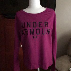 UnderArmour raspberry sweatshirt in size Large
